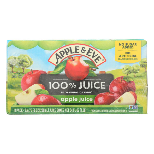 Apple And Eve 100 Percent Apple Juice - Case Of 6 - 40 Bags