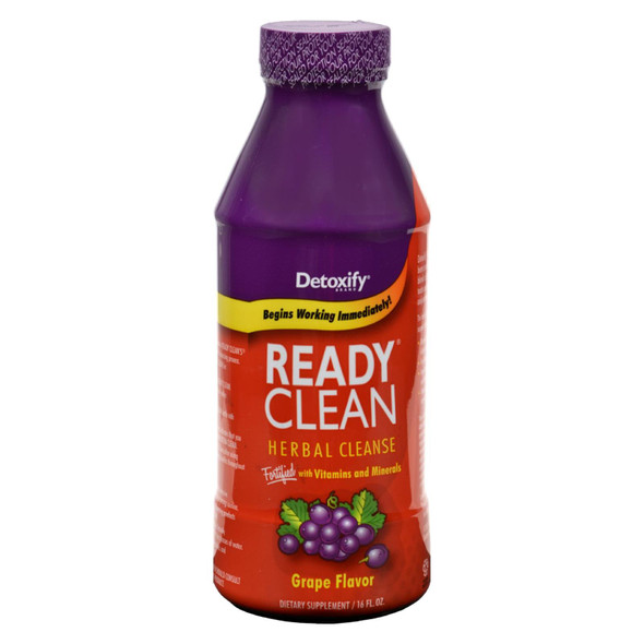 Detoxify - Ready Clean Herbal Natural Grape - 16 Fl Oz