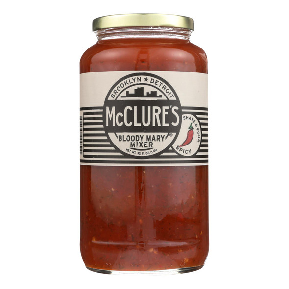 Mcclure's Pickles Bloody Mary Mixer - Case Of 6 - 32 Oz.