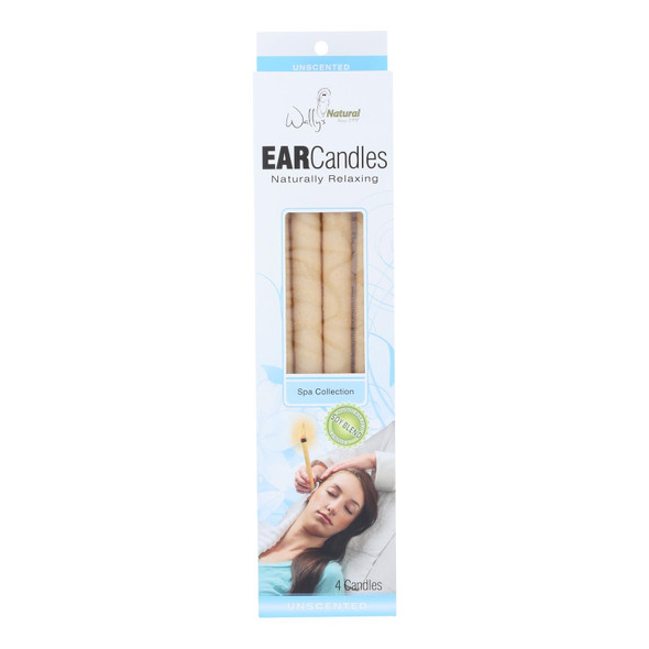 Wally's Ear Candles Plain Paraffin - 4 Candles