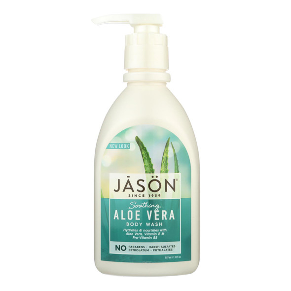 Jason Body Wash Pure Natural Soothing Aloe Vera - 30 Fl Oz