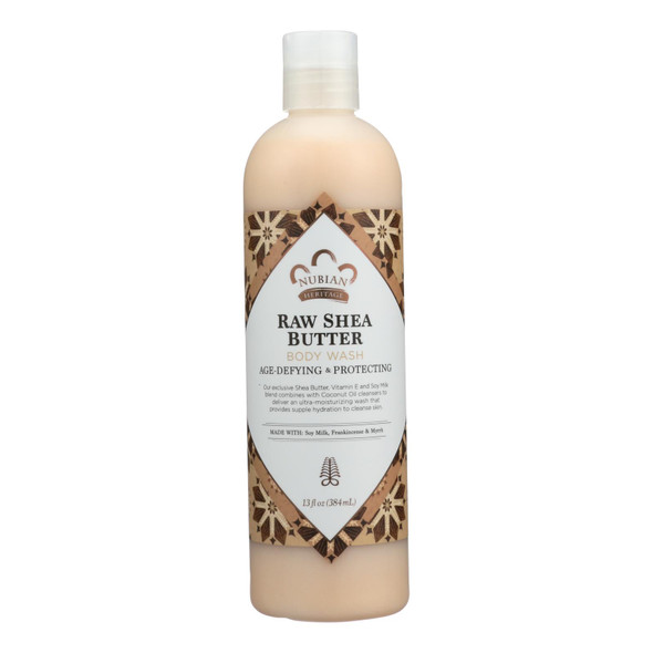 Nubian Heritage Body Wash - Raw Shea Butter - 13 Fl Oz