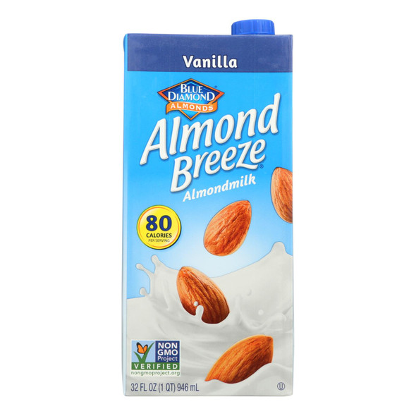 Almond Breeze - Almond Milk - Vanilla - Case Of 12 - 32 Fl Oz.
