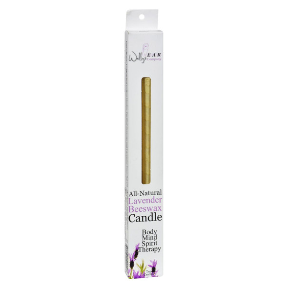 Wally's Natural Products Beeswax Candles - Lavender - 2 Pack
