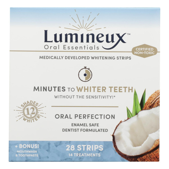 Oral Essentials - Strps Whitng Mthwsh Bonus - 1 Each - 14 Ct
