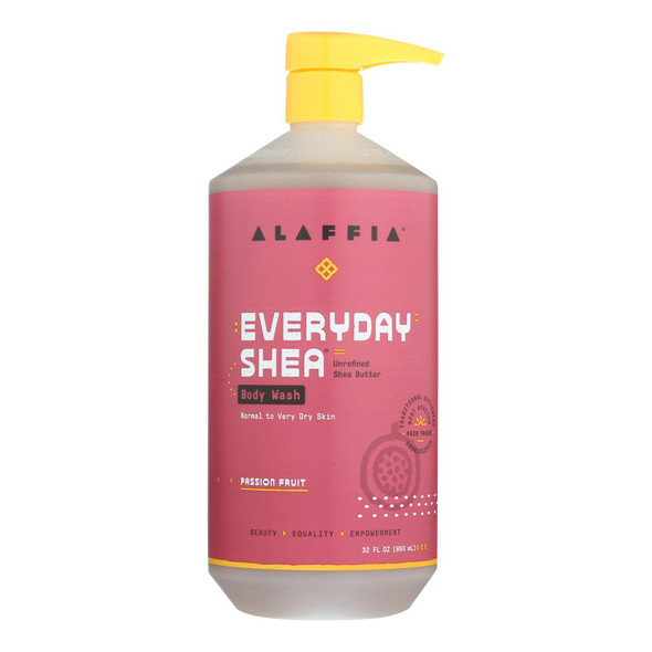 Alaffia - Body Wash - Passion Fruit - 32 Fl Oz.