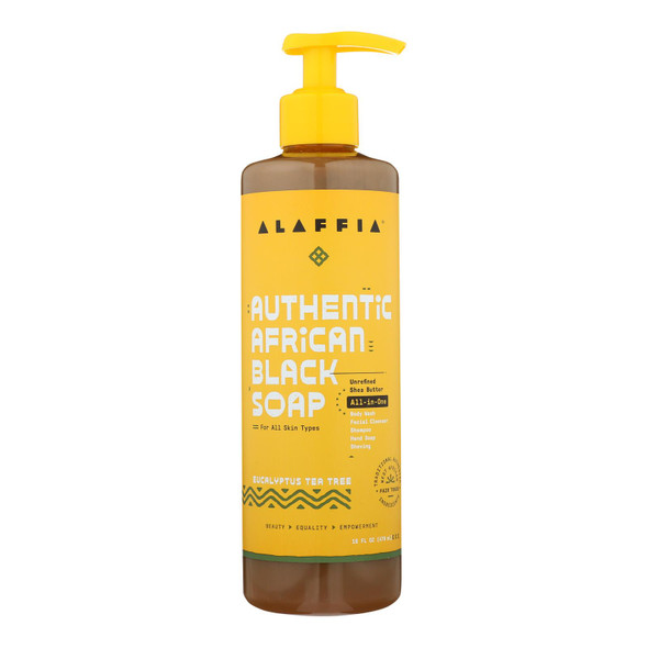 Alaffia - African Black Soap - Eucalyptus Tea Tree - 16 Fl Oz.