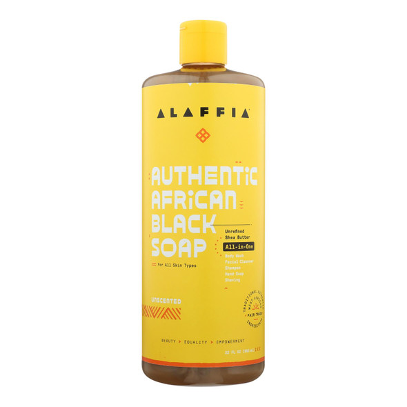 Alaffia - African Black Soap - Unscented - 32 Fl Oz.