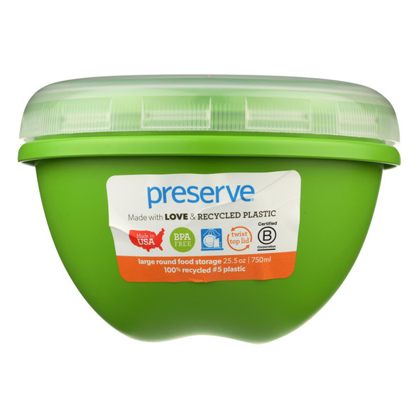 Preserve Large Food Storage Container Green - 25.5 Oz