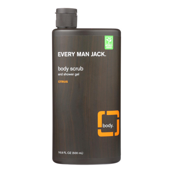 Every Man Jack Citrus Body Scrub - 16.9 Fl Oz