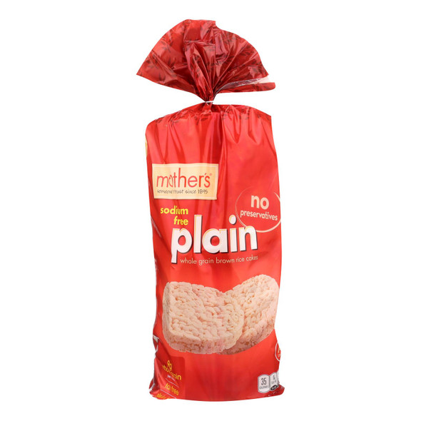 Mother's Plain Rice Cakes - Rice - Case Of 12 - 4.5 Oz.