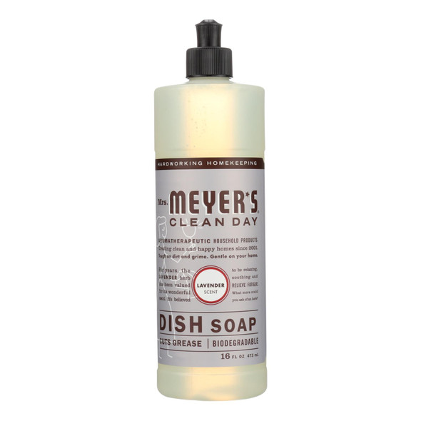 Mrs. Meyer's Clean Day - Liquid Dish Soap - Lavender - Case Of 6 - 16 Oz