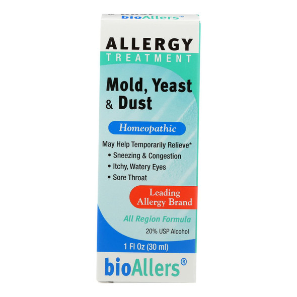 Bio-allers - Allergy Treatment Mold Yeast And Dust - 1 Fl Oz