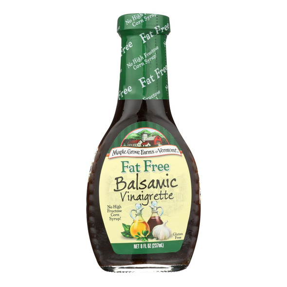 Maple Grove Farms - Fat Free Salad Dressing - Balsamic Vinaigrette - Case Of 12 - 8 Oz.