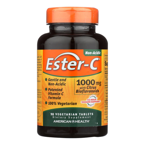 American Health - Ester-c With Citrus Bioflavonoids - 1000 Mg - 90 Vegetarian Tablets