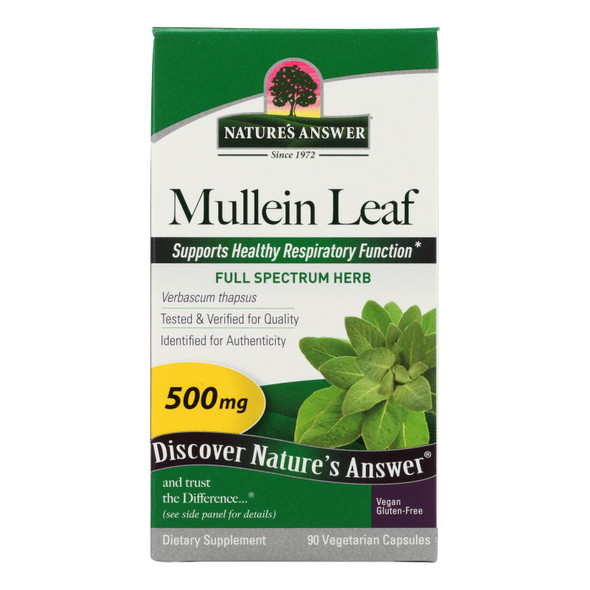 Nature's Answer Mullein Leaf Dietary Supplement  - 1 Each - 90 Sgel