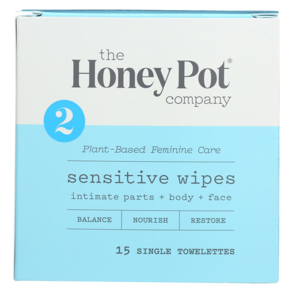 The Honey Pot - Wipes Intimate Snstve Ind - 15 Ct