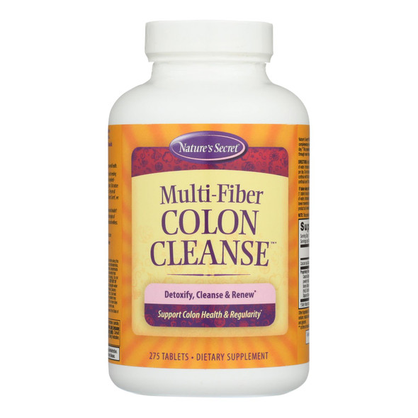Nature's Secret Multi-fiber Colon Cleanse - 275 Tablets