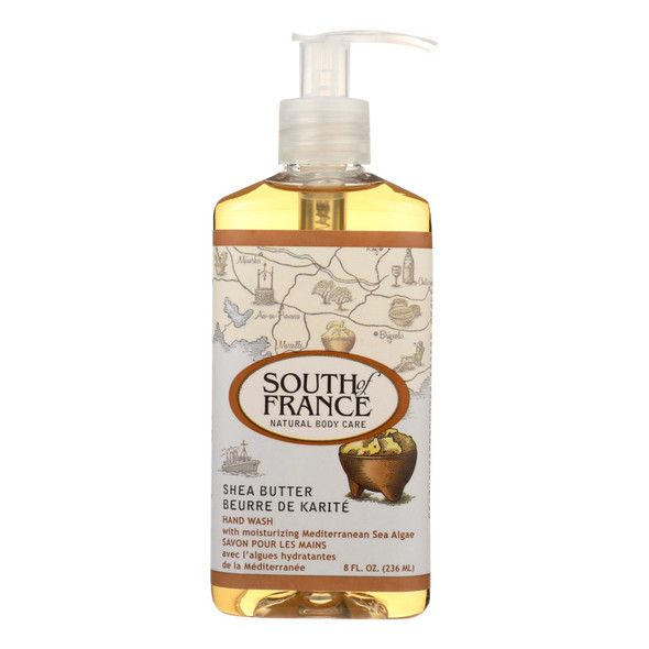 South Of France Hand Wash - Shea Butter - 8 Oz