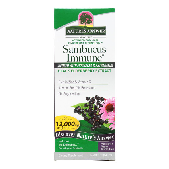 Nature's Answer - Sambucus Immune Support - 8 Oz