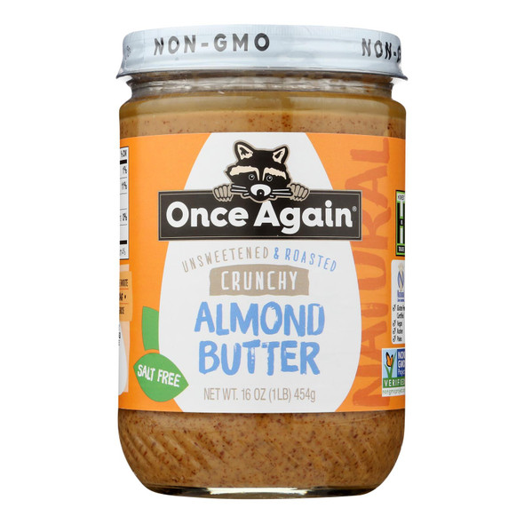 Once Again - Almond Butter Crunch Ns - Case Of 6-16 Oz