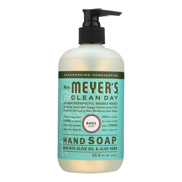 Mrs. Meyer's Clean Day - Liquid Hand Soap - Basil - Case Of 6 - 12.5 Oz