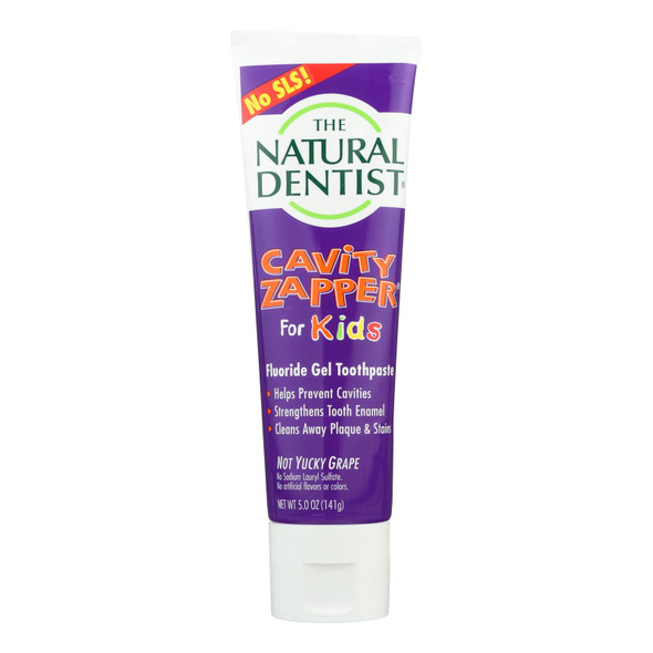 Natural Dentist Kids Cavity Zapper Toothpaste Buster Groovy Grape - 5 Oz