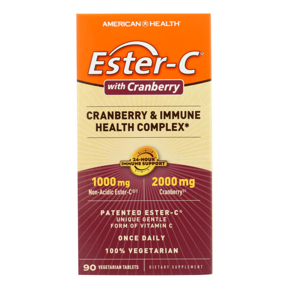 American Health - Ester-c Urinary Tract Formula - 90 Vegetarian Tablets