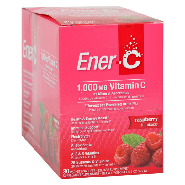 Ener-c Vitamin Drink Mix - Raspberry - 1000 Mg - 30 Packets