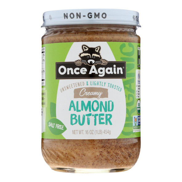 Once Again - Almnd Butter Lt Toasted Sm - Case Of 6-16 Oz