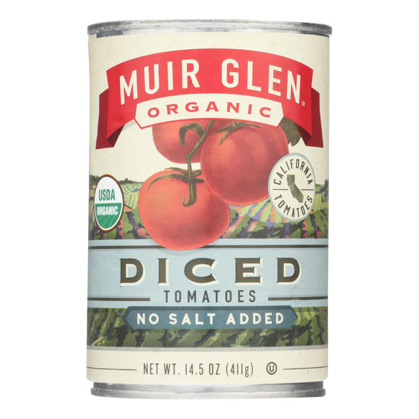 Muir Glen Diced Tomatoes - Tomato - Case Of 12 - 14.5 Oz. - 0404343