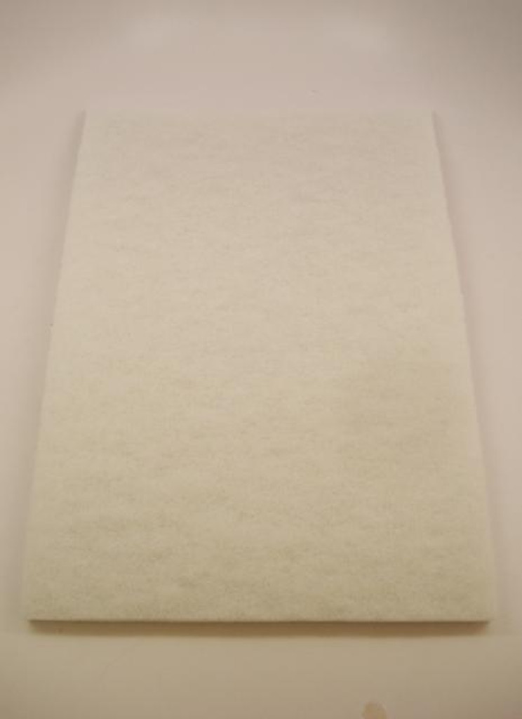 "12"" x 18"" White Buffer Pad"