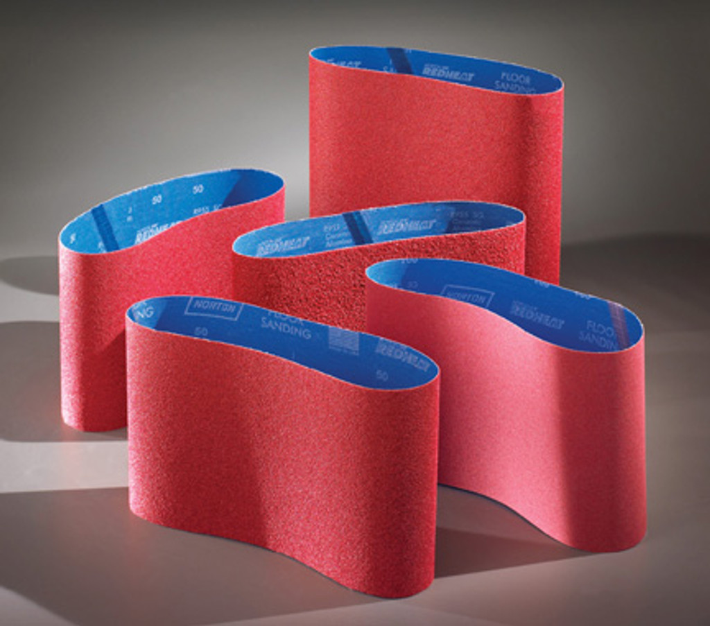 "8"" X 19"" Norton Red Heat Belts (Box of 5 Belts)"