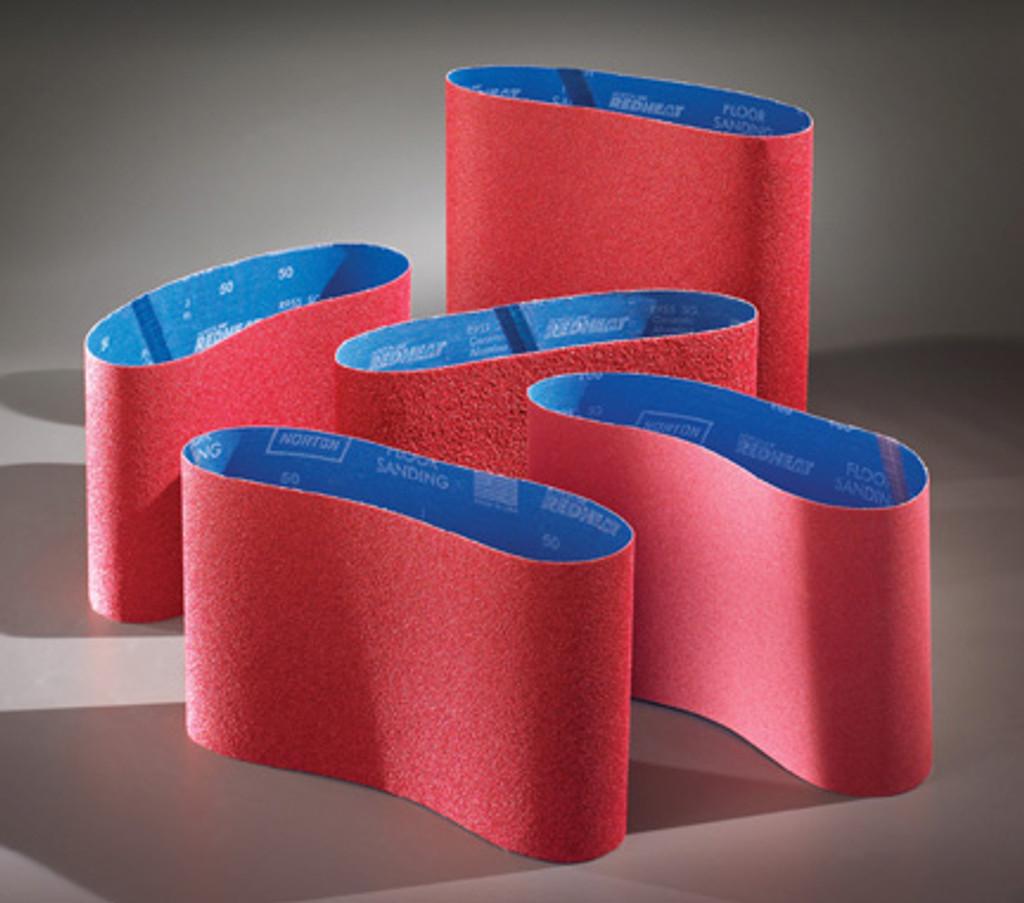 "11 7/8"" X 31 1/2"" Norton Red Heat Belts (Box of 5 Belts)"