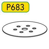 """6"""" (150 mm) Velcro Disc Replacement. For Steel Plate On Lagler FLIP Edger."""