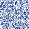 Belles and Whistles Blue Glass Ornate - Rice Decoupage Paper