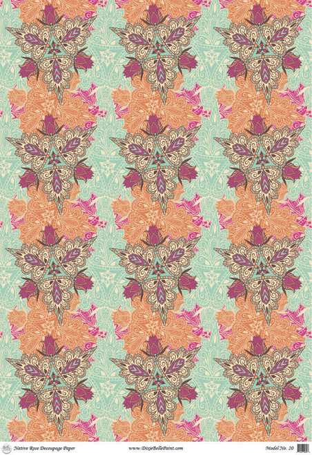 Native Rose - A1 Rice Decoupage Paper