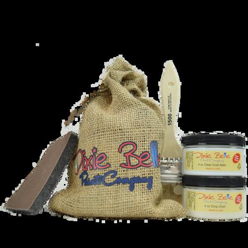 Dixie Belle Paint Gift Bag (Drop Cloth w/clear coat)