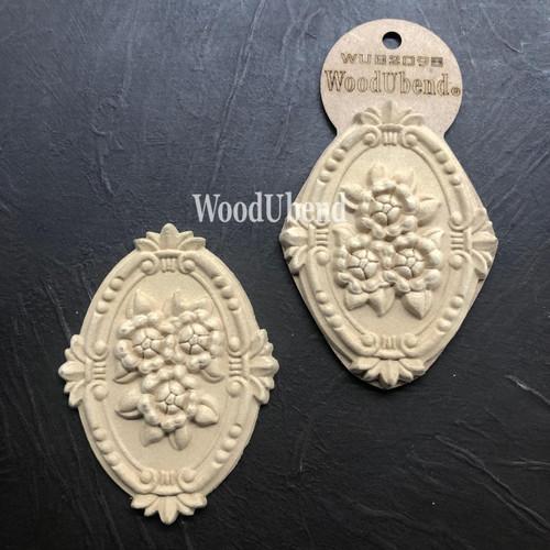 WoodUBend Floral Applique #2098