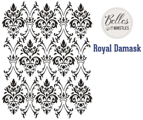Belles and Whistles Royal Damask - Stencil