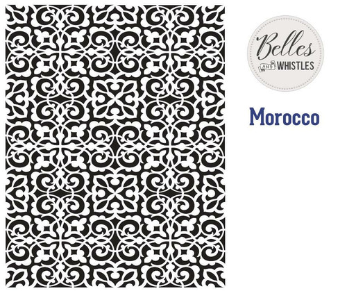 Belles and Whistles Morocco - Stencil