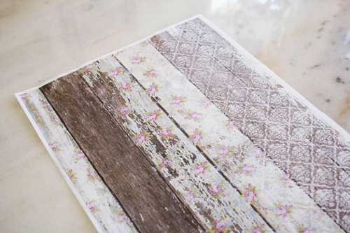 Belles and Whistles Pallet Wood Pattern - Rice Decoupage Paper