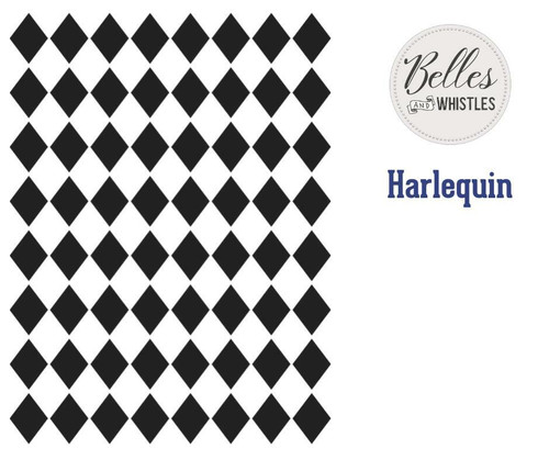 Belles and Whistles Harlequin - Stencil