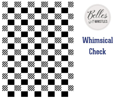 Belles and Whistles Whimsical Check - Stencil