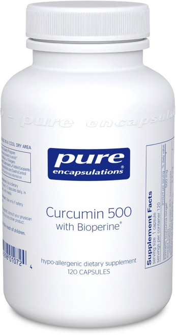 Curcumin with bioperine 500 mg, 120 caps