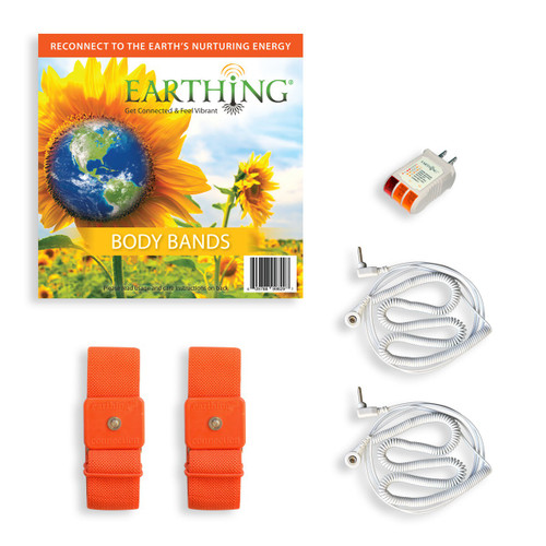 Earthing- Orange Body Bands in Pouch