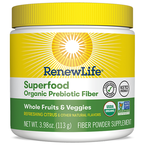 RenewLife Superfood Organic Prebiotic Fiber, 3.98 oz