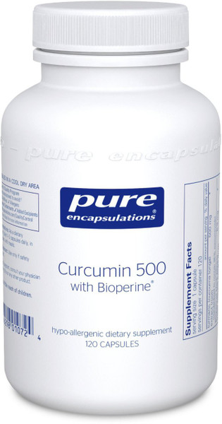 Curcumin with bioperine 500 mg, 120 caps