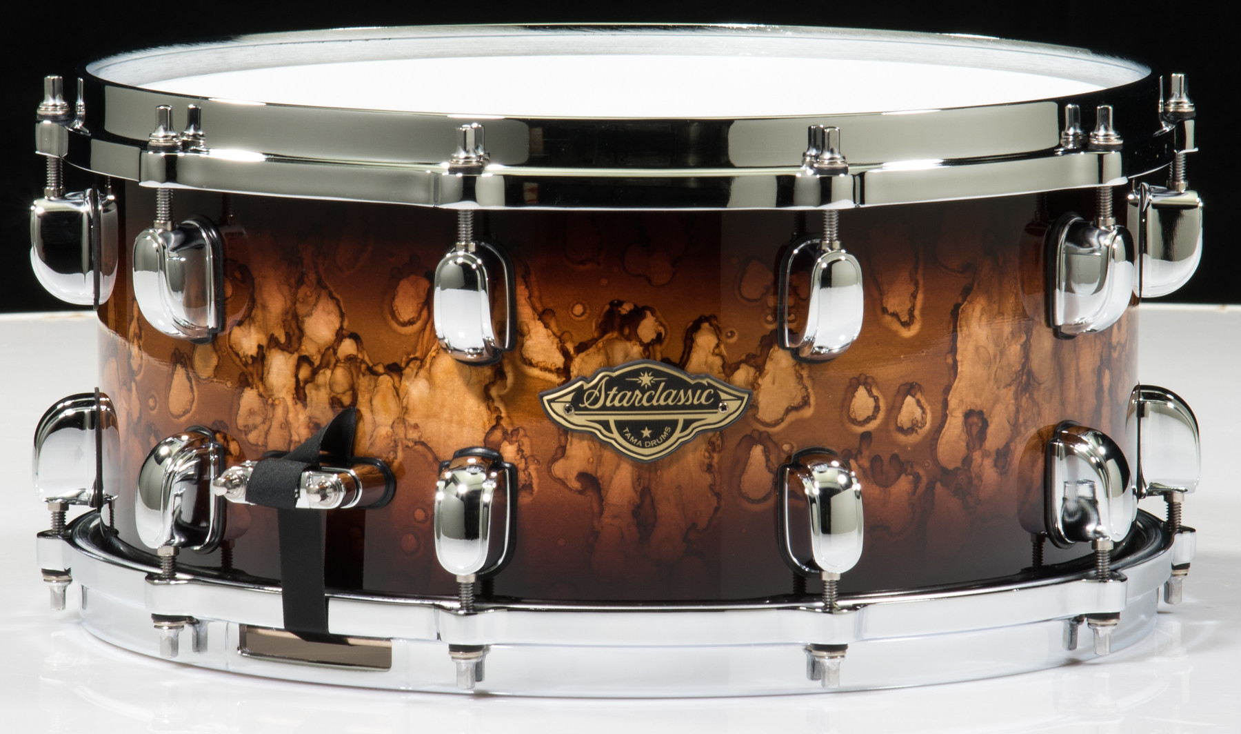 "Tama Starclassic Walnut//Birch 14/"" X 6.5/"" Snare Drum//Molten Brown Burst//NEW"