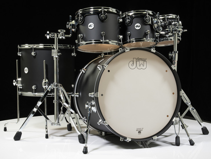 DW Design Series 6pc Drum Set 8/10/12/16/22/14SD - Black Satin